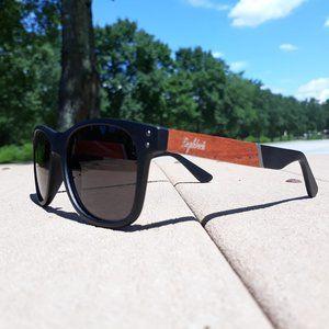 Cherry Wood and Acetate Polarized Sunglasses
